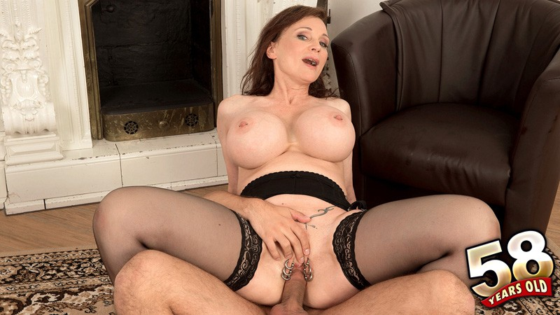 My sexy piercings milf in black stocking pierced pussy 6