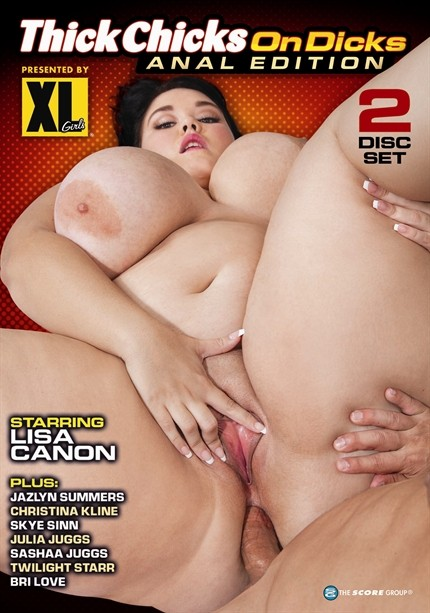 THICK CHICKS ON DICKS ANAL EDITION DVD cover image