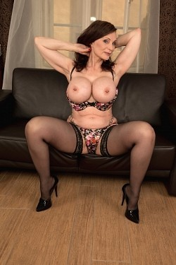 Michaela o brilliant big titted milf on an orange dildo cone 2