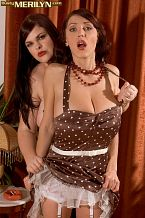 Merilyn sakova - merilyn and jelena a spanking pleasant time. Merilyn And Jelena A Spanking nice Time busty and XLGirls model Jelena Jasper is a large help with Merilyn photo shoots. She's Ukrainian also, which makes them homegirls. Now, normally, Jelena is very jovial and cheery but Merilyn did something to anger Jelena on this visit. So Jelena is going to have to punish a very contrite Merilyn, who makes that Home Alone face. Stern-looking Jelena has Merilyn bend over her knees and take her slaps until Merilyn agrees to behave better. (Any man lucky enough to get to slap Merilyn over his knee would have a massive erection by the third smack.) After Merilyn's ass-whacks have been doled out, both girls pose individually to show off their huge-boobed bods.See More of Merilyn Sakova at BUSTYMERILYN.COM!