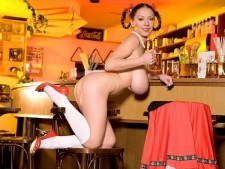 Merilyn sakova - ukrainian bar maid. Ukrainian Bar Maid It's been a long day at the job. Now comes Merilyn time! Down a few pints, sit back and enjoy how the Ukrainian barmaid gyrates and swivels for your viewing pleasure. Is this the best pub in the world A breast-man could live here very happily. It's a shame that every bar has a last call. Especially this one! But this isn't the last call for Merilyn. She'll be back wearing another lusty outfit and doing what she does best...pleasing tit-men! See More of Merilyn Sakova at BUSTYMERILYN.COM!