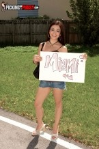 Make love bound. Fuck Bound Nikki's holding up a sign that says Miami, but she might as well be holding up a sign that says, fuck me, please. She wants to get it on more than she actually wants to make it to the Magic City and we think the latter slogan would be very effective getting her what she wants. But truthfully, if you've got a tight, tempting body like Nikki does, you don't even need a sign. You could be standing on the side of the road with rags on and guys would still hit on you. It almost makes you wonder, are these guys picking up Nikki, or is Nikki picking up these guys It doesn't matter, because she wants to fuck, and they want to fuck, and that's what they do. And that's all that matters.See More of Nikki Vee at PICKINGUPPUSSY.COM!