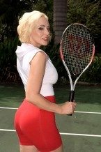 Game  set  cum!. Her husband's spent large bucks to get a tennis pro to come to their house to teach his wife, Raquel, how to play tennis so they can play together at the country club. The pro is dedicated to his task and tries to get Raquel to improve her grip on her racket. But as soon as she knows her husband is gone, she makes it clear that she'd rather concentrate on a different grip - gripping the young pro's cock. After cock cock sucking him silly on the tennis court, she takes him into the guesthouse where she shows that she may be a learner at tennis, but she's a pro at cock cock sucking and fucking!See More of Raquel Sieb at BONEDATHOME.COM!