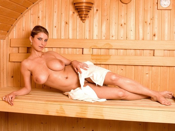 Squirting in the Sauna