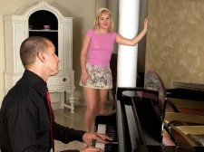 Do-re-mi-fa-so-fuck!. Do-Re-Mi-Fa-So-FUCK! Young Lola is surprised when she finds that a different instructor has turned up for her weekly piano lesson. She loves his accent and thinks he's way sexier than her usual guy. They run through the basics as he finds out what she knows. But she soon makes it obvious that she knows that she wants to make love. She tells him that she hasn't had sex in a week, and that's way too long. Being the elegant lad that he his, the instructor says make love the piano, and happily lets Lola exercise her fingers-and her lips-on his dick, then gives her some one-on-one instruction in make loveing.See More of Lola Wilde at BONEDATHOME.COM!