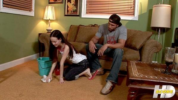 Amai Liu Cleaning And Cumming