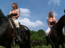 Christy marks - ejaculate along for the ride. Ejaculate Along For The Ride ejaculate along for the ride of your life with Christy and her busty buddies as we give you a behind-the-scenes look at their horse-riding lesson from the feature film busty Riding Academy. This behind-the-scenes footage features Christy (who was the most-experienced rider) along with Jasmine Black, Terry Nova, Christy Klenot, Melissa Mandlikova and Karina Hart. (It was Karina's first time on a horse and she was nervous and scared.) The girls ride around...topless. There is something so wonderful about a hot chick on horseback with her titties bouncing up and down. Just watch and see for yourself. See More of Christy Marks at CHRISTYMARKS.COM!