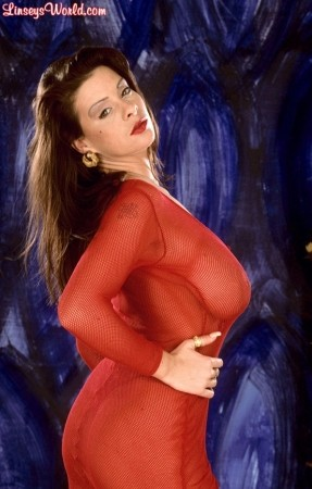 Linsey Dawn McKenzie Linsey's Sheer Red Dress linseysworld.com