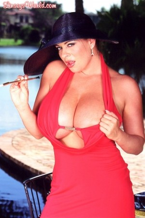 Linsey Dawn McKenzie Lady In Red linseysworld.com