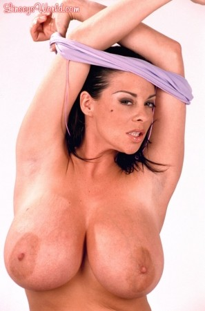 Linsey Dawn McKenzie Purple Fishnet linseysworld.com