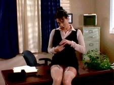 Linsey: secretary at work. Linsey: Secretary At Work Linsey goes to the office of her supervisor Miss Grosby to deliver a memo but she's out of the building, prompting Linsey to make a comment about her excessive lunches. It's obvious that LDM has no love lost for this unseen executive, whom Linsey thinks is a bitch. Linsey decides to snoop at employee dossiers that she finds in an unlocked file cabinet. She discovers that Miss Grosby keeps a personnel file on her amongst other employees, including decidedly non-corporate commentary about what Linsey wears at work and whether her nipples show through her blouses! Very unprofessional, to say the least! Linsey realizes that she's been a secret object of sexual desire by her boss for years, never knowing that Miss Grosby is, in fact, a lesbian, although she had suspected it. LDM wonders if Miss Grosby's office is monitored by surveilance cameras. The thought of that excites her. Reading more notes in her file, she learns that Miss Grosby has fantasies about Linsey getting naked and rubbing her clitoris on that very desk. Linsey decides to enact Miss Grosby's office fantasies about her while she's still away at lunch, as if playing to a hidden cam. Peeking in another drawer like a little spy, Linsey discovers more shocking secrets about her supervisor, motivating Linsey to seek her revenge.See More of Linsey Dawn McKenzie at LINSEYSWORLD.COM!