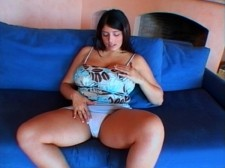 Kerry marie - blue couch. Blue Couch This is a true digital video because Kerry uses her dainty fingers instead of toys to massage her incredibly full knockers and slick, pink vagina. It was Kerry's intent after all to make us lose our man muck before the video ends. That's quite easy for her to do. All she has to do is play with her tits and stare at the hovering camera while we fantasize about have sexual intercourse her with a rock-hard dick. She knows how we think. In the American video series, she's quite the little chatterbox, entertaining us with a stream of sexy talk in her own horny way. In this vid, she's quiet, if breathing heavily from her masturbatory mash-up. See More of Kerry Marie at BUSTYKERRYMARIE.COM!