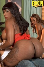 Ms juicy, skyy black & kelly starr: the thong team. Welcome