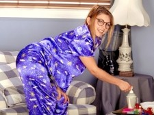 Autumn-jade - naughty & nerdy. Naughty & Nerdy This behind the scenes video really showcases Autumn's cheeky personality and penchant for fun on set. While posing for SCORE photographer, Peter Wall, she leans in and gives him a titty-twister and laughs. Dressed up as a nerd, she plays around in her silk PJs, sporting glasses. Always smiling this video shows you the real Autumn; fun-loving, silly and a very down-to-earth woman. And it doesn't hurt that she has big tits, too! See More of Autumn-Jade at AUTUMN-JADE.COM!
