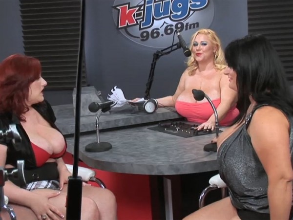 Renee Ross Behind The Scenes At K-JUGS With Brandy & Reyna