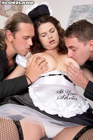 Vicky Soleil Tag-Team Fuck For A French Maid