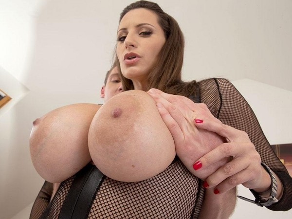 Sensual Jane A Cream Injection For A 34DDD Brunette