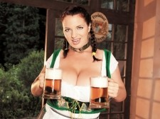 Beer and breasts. Beer and tits In this scene, the Romanian
