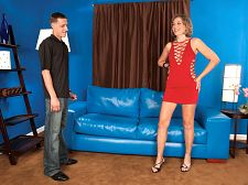 Just an ass-slammed midwestern housewife. Just an ass-slammed midwestern housewife I love backside sex, flat-chested Iowa housewife Ruthie told us. It makes me feel like a slut to know that there's a penish in my ass. My favorite thing to do is give blow jobs to strangers in public. My second favorite thing is to get ass-fuck by strangers.  For the record, Ruthie met the guy who's make love her here just a few hours earlier (when they shot the photo version of this scene). So he's not a complete stranger. And he's already fuck Ruthie's ass.  And now he's going to do it again, Ruthie said, smiling like she always seems to do. I can't wait!See More of Ruthie Hays at FLATANDFUCKEDMILFS.COM!