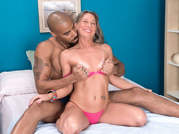 Leilani's big, black cock attack
