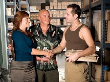 Have sexual intercourse my ass! boss's orders!. Have intercourse my anal! Boss's orders! We took some creative license for this video. Sunny Ray, 52, is divorced, not married, but here she plays the wife of a man who runs a warehouse. The husband makes a very big mistake. He tells one of his workers, John, to go to his house and install the new flat-screen TV he bought for his wife.  Put it in however she wants and wherever she wants, he orders.  However Sunny wants and wherever she wants turns out to be in her mouth, vagina and analhole. Sunny Ray dresses like a slut, blow like a slut and fucks like a slut, and she loves getting her anal slammed.  By the way, there's a special treat at the end of this video. It involves the guy's ejaculateshot and Sunny's analhole. No, he doesn't ejaculateshot inside of it, but close enough. See More of Sunny Ray at YOURWIFEMYMEAT.COM!