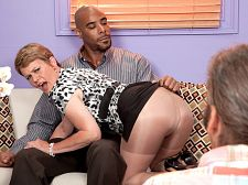 Marla fucks a bbc her husband watches. Marla fucks a BBC. Her husband watches. I never got have sex by a black man, 52-year-old Marla Jones says to her husband as she rubs her pussy, waiting for Asante to show up. I can't wait.  Then Asante shows up, and Marla tells him, I got so fucked excited waiting for you.  Go ahead, Asante, Mr. Jones says as he watches. You can finger my wife.  Please, I fucked hope so, Marla tells Asante, who's hesitant at first but starts rubbing then inserting. Don't go so easy there. Barge right in! This fucked cunt's been waiting for you.  Before long, Asante, who had seemed confused by the situation, maybe a little intimidated, gets into the swing of things, and he completely forgets his prior hesitation when Marla goes down on his dick. And then she looks into the camera and says to us, You like this Don't you wish I was blowjob your penish You jerking it off  Marla is one of the dirtiest-talking MILFs we've ever met. She's one of the best penish suckers, too. She has spectacular technique, licking and blowjob and paying attention to parts of the penish that most guys didn't even know they had.  FYI, the husband in this scene is Marla's real-life hubby, and he watched the whole thing. orgasm here was his idea, and Marla is glad he came up with it.  I loved having that big, black penish in my cunt, Marla said.  You won't doubt that for a second.See More of Marla Jones at YOURWIFEMYMEAT.COM!