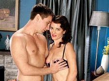 1950s sitcom mom goes hardcore. 1950s sitcom mom goes hardcore Like a woman stepping out of a 1950s TV show-but in living color-48-year-old Danielle Reage makes her XXX debut. When the video opens, Danielle is lying in bed, wearing exciting black and purple lingerie. She's rubbing her cunt and moaning softly. She looks up into the camera and rubs her cunt some more. The guy appears.  I like to please, Danielle says, now sounding like a woman from the '50s. I like to do things that make a man happy.  He says that her blowjob his penish would make him happy. She says she'd be happy to do it. But first, it's her turn. When he eats Danielle cunt, she cums hard, and you can hear how wet she is. When she give suck, she give suck hard, and when she fucks, she fucks hard. No wonder the divorce rate was so much lower in the '50s.  Danielle is from Central Florida. She's a divorcee who works in marketing, not as a secretary but as one of the brains. She says doing this is the last thing most people would expect me to do. I guess you could say I'm a very conservative dresser, but I think the way women dressed in the 1950s and early '60s was very exciting. Tight skirts, tight tops and sweaters, bullet bras, stockings and garters. It's all very sexual, and it makes me feel exciting. See More of Danielle Reage at GRANNYGETSAFACIAL.COM!