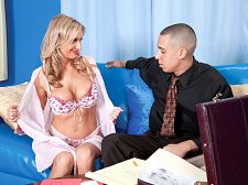 Cristy's fantasy cums true. Cristy's fantasy ejaculates true Bored housewives...aren't they the best Cristy Lynn, 43, from Florida,is sitting at home, talking on the phone, wearing just a bra and panties because the kids are away at camp and her guy is working late. She's doing her nails, and she tells whomever she's talking to on the phone that she's restless. She needs some excitement in her life. And then she hears a knock on the door. Is excitement knocking  Well, to most people, some dude going door-to-door selling vacation packages is exciting. But when he says vacation package, Cristy Lynn is thinking about his package, the one in his pants, and when he says that the name of the company is Fantasies Come True, she's thinking, Fantasies ejaculate True.  You guys all know how this one's gonna turn out: with the dude's cock in Cristy Lynn's mouth, then in her cunt. And with his ejaculate all over her cunt and asshole. Yes, sometimes, fantasies do come, and ejaculate, true.  Have we mentioned that in real life, Cristy Lynn is a librarianSee More of Cristy Lynn at CREAMPIEFORGRANNY.COM!
