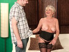 Happy birthday, deanna it's a creampie!. Happy birthday, DeAnna. It's a creampie! We love celebrating birthdays. We love good some of our favorite MILFs back into the studio and giving them what they want. So, guys, it's time to wish a belated happy 60th birthday to DeAnna Bentley, a short 'n' horny divorcee from Ohio who just turned 60.  Her birthday gift: a creampie.  Mmmmm, she says, licking her lips. Just what I always wanted.  DeAnna is unusual because she knows exactly how many men she's fuck in her life. When we first met her, the number was 46. And now  Seventy, she said. I know, I've been going beautiful wild, but every time I tell a man that I did a porn scene, they want to see it. And once I start showing it to them, my hand starts wandering to their cocks.  This scene should get another rise out of the many men who seem to enter DeAnna's life. And her pussy. And everything else she has to offer.  The next guy will be No. 72. See More of DeAnna Bentley at CREAMPIEFORGRANNY.COM!