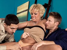 Ass-fucked by two guys what will the neighbors say Ass-fucked by two guys. What will the neighbors say Taking turns on a MILF's lascivious anus is what this video is all about as Trixie Blu, a 48-year-old housewife from Ohio, gets it in the anus from two of our hornier studs...hornier because Trixie is such a piece of anus with her tight anatomy and firm breasts and good anus and hug-your-cock vagina and sweet face.  Guys like my breasts best, Trixie said. At least that's what my husband likes the most. These guys seemed to be enjoying my anus. That's good. I sure was enjoying their cocks!  Trixie was born in Indiana and lives in Cincinnati. She is friends with 40SomethingMag.com model Cali Houston, who encouraged her to send us her pictures. She has sex at least once a day, more if she can. We asked her about the wildest thing she has ever done sexually and she said, Other than this It depends on your idea of wild. I once had sex on a trampoline in the backyard where all the neighbors could see.  Did they see  They must have, but noanatomy said anything.  We have a feeling that if Trixie's neighbors see this, they won't say anything, either. The women will be silently jealous. The men will just close their doors and jack.See More of Trixie Blu at MILFTHREESOMES.COM!.
