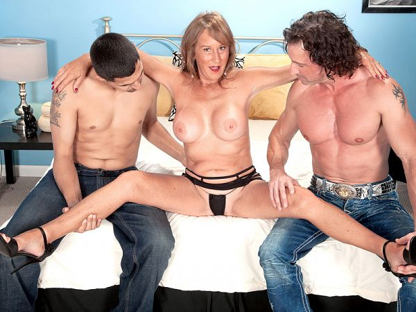 Trisha gets ass-fucked by two guys and swallows