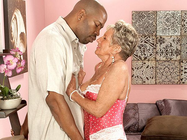 Oldest GILF ever gets big, black cock