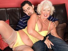 Jeannie lou walks the walk, cock suckings the cock sucking and fucks the fuck Jeannie Lou walks the walk, blows the blow and have sexual intercourses the have sexual intercourse Jeannie Lou, a 61-year-old divorcee from Fort Lauderdale, Florida (she was born in St. Paul, Minnesota), makes her worldwide on-camera blowing and have sexual intercourseing debut, and it's a great one. Jeannie Lou looks like she could be one of the Golden Girls from the old TV show, and she's about as hot and libidinous and excited as any 60Plus MILF we've ever met.  I like a little spanking, light bondage and big, black penish gang bangs, Jeannie told us. I once had sex in the back of my friend's semi-truck while the mechanics were working on the engine.  Jeannie Lou likes action movies, going to the beach, dancing and volunteering for charities. She has been a nudist for 15 years. She tries to have sex at least four times a week. And when we asked her what satisfies her sexually, she said, A long, three-four hour session of vaginal and butt sex.  Jeannie Lou shows us how much she loves sex by not only blowing on her stud's penish but trying to deep-throat it and slurping it and rubbing her cunt while she's doing it. Jeannie Lou obviously enjoys blowing penish, but do you know what she seems to like even more Getting her cunt have sexual intercourseed. She practically vibrates while she's getting dicked.  Jeannie Lou is a fashion consultant. She used to own clothing stores. She's been a swinger and a nudist. Now, she has other things on her mind.  I want to own and manage my own brothel, she said.  If it were a one-woman operation and that woman was Jeannie Lou, nobody would complain.See More of Jeannie Lou at SILVERSLUTS.COM!.