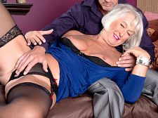 First a dildo then a cock for jeannie lou's booty. First a dildo then a tool for Jeannie Lou's arse Today, 62-year-old Jeannie Lou has a surprise for her man. She's wearing a blue dress that makes her look clarsey. But you know what they say...devil with a blue dress...  I've got something new today, she tells Tony.  Crotchless panties Yep. But that's not all.  They fit so nice, Jeannie Lou.  So does the tool that's about to go into her arse.  Whoops! Spoiler alert!  Jeannie Lou also has a new dildo. I always wanted one of these up my arse, she tells her guy, before I get the real thing.  Spoiler alert!  Jeannie Lou takes that dildo up her arse while she's blowjob tool...or trying to penish sucksing tool. She's so overcome by her analgasm that she has trouble blowjob. She vibrates and cums and tries to penish sucksing some more. Of course, she does get the tool hard, and where does it go Straight to her old arsehole!  Yep, Jeannie Lou gets arse-fucked for a pleasant long time before the tool finds its way to her pussy, so if you're into seeing old gals getting arse-fucked, this scene is for you. Jeannie Lou is for you.See More of Jeannie Lou at SILVERSLUTS.COM!