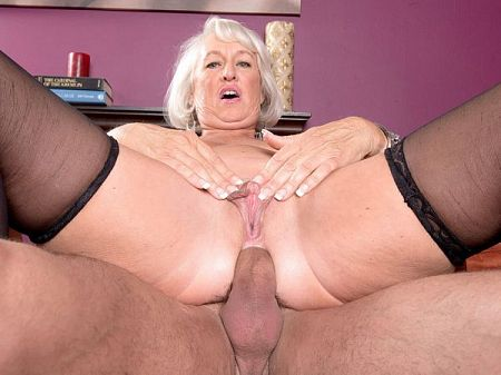 First a dildo then a cock for Jeannie Lou's ass