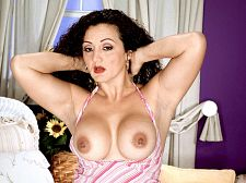 Melanie - latina make love lessons. Latina make love lessons Melanie is a 43-year-old divorcee who, in her own words, is going to teach you how to make love. If her nipple piercings and tattoos are any indication, you are going to get the sex lesson of your life.Melanie is a dance teacher. Can you imagine what those sessions must be like She was born in Colombia and now lives in South Florida. She's 5'8 with C-cup tits. She likes to wear sleazy animal-print tops that show off her cleavage. She never wears a bra. She wears short skirts than show off her legs. Sometimes, on a windy day, she won't show panties. She's been known to put on a few impromptu cunt shows. She's sexually assertive and tries to have sex twice a day, often with two completely different men. She enjoys penish sucking penish and having her cunt eaten.If I'm interested in a man, he'll know it right away, she said. I'll give him a look that will make his penish hard, and my cunt will already be wet. It always is.See More of Melanie at OLDHORNYMILFS.COM!