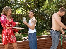 The lawn boys dp kelly leigh. The lawn boys DP Kelly Leigh Kelly Leigh is a no-nonsense woman, so when she drops the drinks she brought out for her lawn care boys, she makes up for it by dropping to her knees and give suck their cocks. Would most women do this No. But most women are not Kelly Leigh, who cock blowjob cock like she's making love to it, enjoys being called a have intercourse dirty prostitute and takes cocks in her anus as casually as most women take it in their pussies.  I want your have intercourse cock in my anus! she screams.  There's DP action here, too, because Kelly is that kind of woman. A porn star, of course, but one who doesn't do it for the money. She does it for the sex. And if you need proof of that, just watch this video.  I love acting like a slut, Kelly said. I love getting DP'd and give suck balls and doing all the things that women my age aren't supposed to be doing. sucks two cocks, getting have sex in my anus, cumshotshot facials. I love it all, and the sleazier the better. I feel proud when I hear people say that I'm the sluttiest porn star they've ever seen, but in my mind, I can be even sluttier!  Kelly also said, I laugh when I see those porn prima donnas who are worried about their hair getting messed up during a scene. It's sex! Your hair's supposed to be flying everywhere. Besides, it's gonna be full of cumshotshot soon, anyway. That's the whole idea! See More of Kelly Leigh at IFUCKEDTHEBOSS.COM!