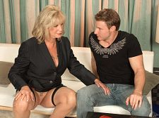 Young cock for anneke's bum. Young dick for Anneke's butthole Divorcee. Entertainer. Sixty-two-year-old nymph who's make love more and more as she gets older. That's Anneke Nordstrum, one of the hottest 60somethings ever.  I like it in my mouth, my cunt and especially my bum, Anneke said. A lot of men are surprised that a woman my age is into booty sex, but why not If it's enjoyable for both of us, anything goes!  Anneke is a special woman. She takes that young dick up her bum like she's been doing it all her life...which she has, kind of.  I got into booty when I was in my early 30s and realized I could cumshot just as elegant from booty sex as I do from vaginal sex, she said.  In this video, Anneke takes her time getting that dick up her bum, but it gets there, and Anneke enjoys every inch of it.  I'll never get tired of booty, she said. Never.  Anneke, who is of Swedish heritage, was born in upstate New York and lives in Central Florida.  I get 'Great tits' all the time. But that's not the way to get into my pants. Get me interested in you. Take your time. I promise you it'll be worth it. Besides, we have all night. See More of Anneke Nordstrum at GRANNYLOVESYOUNGCOCK.COM!