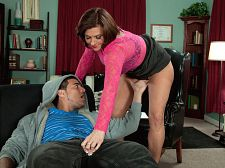 Milf dreams cumshot true. MILF dreams cumshot true Yasmine, 44, is a therapist. James, her 20-year-old patient, tells her he's been having dreams about his friends' moms.  What are they doing to you Yasmine asks.  They're always going for my pants, he says. I can't have a dream with a girl my age. It's always some older woman.  Yasmine smiles. She tries to be professional, but she can't help herself. She crosses her legs.  They cup my balls. They work my shaft, he goes on. What kind of younger man like myself thinks about older women all the time  He's been having these dreams two or three times a night. Now his dream is about to come true. Yasmine leans over and strokes his cock through his pants. Then she takes his penish out and sucks it. Then she rides it. Then he cumshots on her face.  Looks like James is going to keep having those dreams. And there's nothing wrong with that.  This is Yasmine's first hardcore video. She's married and the mother of four. She's not a nudist or a swinger. She's just a lascivious woman who walked into our studio looking for a new adventure.  There's nothing wrong with that, either. See More of Yasmine Beale at GRANNYLOVESYOUNGCOCK.COM!