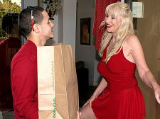 Delivery in the rear. Delivery in the rear For her first on-camera make love, 59-year-old Summeran Winters reenacts one of our favorite scenarios: MILF seduces the delivery boy. Now, if you've ever been a delivery boy, you know this kind of thing happens all the time. Real-life MILFs really do seduce the delivery boy, whether it's the pizza guy or the supermarket guy.  The thing is, though, usually the delivery boy is on the receiving end of the best blowjob job of his life. In rare instances, he gets some vagina to make love. But how often does he get to make love the MILF in the anus Almost never, which is what makes this scene so special. That and the fact that he gets to make love Summeran in the anus on the kitchen table.  In my personal life, I love backside sex, so why wouldn't I want to have backside sex my first time in front of the camera Summeran said. Some people make a large deal out of backside sex, but to me, what's the difference between me having a penis in my vagina or a penis in my anus  By our estimate, a few inches, at most.See More of Summeran Winters at GRANNYLOVESYOUNGCOCK.COM!