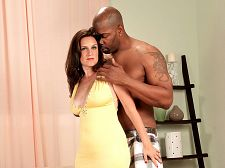 Chocolate dick and a facial for gillian. Chocolate penish and a facial for Gillian Brunette beauty Gillian Sloan wears a tight, low-cut, yellow dress. She claims her breasts are 34Ds but they look much, much largeger. She turns around and lifts her dress to show the camera her very squeezable butt.  I can't stop thinking about that nice, large, black, large penish that's going to be filling my pussy, said Gillian, who used to be a hooker. Yeah, that's right. A hooker.  Gillian's worked up. She's ready to be boned. An assertive woman, submission to the BBC satisfies Gillian's fantasies of being taken.  There's nothing like a large black man to satisfy me, make me cumshotshot. I can't stop thinking about him. I'm obsessed with large, black penish.  Gillian slips the top of her dress down, exposing her nipples. She has terrific tan lines.  I want to tongue those large balls.  That she will be doing. And she'll be blowjob his penish. And she'll be have sexual intercourse his penish. And she'll take his load on her appealing face.  I usually don't let men cumshotshot on my face or even let them make love me bareback but since this is a large fantasy experience for me, too, she said. I let my imagination loose and enjoyed every minute of it. I asked him to give me a facial. His penish was very large. I could barely get half of it in my mouth, it was so large. Lucas liked to be in control on every level. I could tell that right away. He dominated me completely and banged me really good. I think a lot of guys are going to cumshotshot when they see this.  Damn right.See More of Gillian Sloan at GRANNYLOVESBBC.COM!
