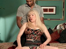 Desperate, black-cock loving housewife. Desperate, black-cock loving housewife It happens all the time. A middle-aged white woman sexually inflamed by raging hormones is neglected by her husband. Desperate for pussy stuffing, she seeks satisfaction with black cocks.  Such is the case with Jennifer Janes, a wife and business owner from Burlington, Wisconsin. She bids her husband nice day and promises him a fine dinner when he gets home. As soon as he leaves, a tall, black man emerges from behind Jennifer. Jennifer is in love with his dick. She becomes his pussy slave, begging for harder thrusts in all positions. The woman is insatiable, but our man is up to the job. He likes to make old white women his have sexual intercourse dolls.  Jennifer's life now has new meaning. Her stud squirts his load in her mouth, and she drinks the sap of his balls, savoring every drop. She makes him promise to have sexual intercourse her again as soon as possible. How will she be able to make dinner for her husband after being slammed by the brotha Life goes on.See More of Jennifer Janes at GRANNYLOVESBBC.COM!