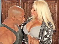 Big, black cock up julia anal's anal. Big, black penish up Julia