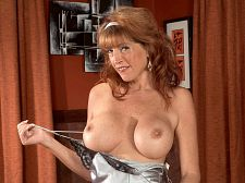 Large tits, large make love toy. Great tits, voluminous have sexual intercourse toy Rachel, a 44-year-old divorcee from Dayton, Ohio, always wakes up horny. The first thing she does in the morning is touch her voluminous tits, and she always discovers that her nipples get hard. Then, after some tit-play, it's down to her kitty for some rubbing and stimulation. Then her voluminous have sexual intercourse toy comes out, and she drills her kitty with it.  I'm really into my anal these days, Rachel said. If I'm home playing with myself, I'll always tuck a finger in my analhole. If a guy's have sexual intercourseing me from behind, I'll always tell him, 'Please, slip your finger into my anal.' I love that all-filled-up feeling.  Rachel knew it was time to get divorced when her husband of 12 years got angry at her for having her kitty pierced. She filed for divorce the day after he caught her stuffing her kitty with a giant dildo while she was watching a porn DVD.  Life is too short to not get all the dick I can, she said. I don't need to be with people with hangups.  She came to the right place.See More of Rachel Rivers at YOURMOMSGOTBIGTITS.COM!