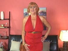 Naughty, big-titted, 61-year-old divorcee got your attention. Naughty, great-titted, 61-year-old divorcee. Got your attention Here's Jackie, a 61-year-old who's married and splits her time between Oregon and California. She's a naughty mom.  I'm here to show you a lovely time, she says at the start of this video. I can't wait to show you everything I've got.  Jackie keeps up the jack and make love talk throughout as she proudly shows off (and licks) her FF-cup breasts and then spreads and toys her well-traveled cunt. And did we mention that she's a redhead Well, she is, although you couldn't tell by looking at her pussy, which is shaved, of course.  We asked Jackie how a man can get her attention, and she said, By staring at my great boobs. Then when I catch him staring at my boobs, he needs to be pretty and funny and blush a little bit because I caught him staring. Of course, then I'll stare at the bulge in his pants, and that'll embarrass him even more. But if I like him, it's only a matter of time before those pants are orgasm right off! And I don't care where we are!  Well, we're at YourMomsGotBigTits.com. And Jackie is ready for you.See More of Jackie Babe at YOURMOMSGOTBIGTITS.COM!