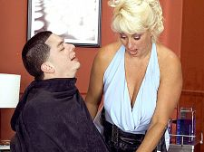 Vagina and give suck. Vagina and suc Being the last customer of the day in a hair salon run by busty, slutty Dana Hayes can be a very pleasant thing, as we see here. Dana doesn't cut much hair in this scene. Before long, she's stuffing her tits in the lucky guy's face and suc his dick. Talk about cut and suc! In this case, it's vagina and suc as Dana works massive to get a pleasant tip. lovely tits, Dana!  When Dana came to our studio for the first time in 2004, she was freshly divorced from a man who refused to fuck her. For years, she put up with it, but when her hubby caught her playing with sex toys, he kicked her to the curb. Best thing that ever happened to Dana. And not a bad thing for all of us mature fans, either. 'Cause Dana went on a sexual spree that continues to this day.See More of Dana Hayes at BUSTYOLDSLUTS.COM!