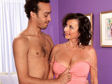 Ciara - ciara's fantasy cums true. Ciara's fantasy ejaculates true As Ciara was shooting this scene, give suck and have sexual intercourse a total stranger's penish, her hubby was home in Atlanta, Georgia, wondering what his wife was doing, knowing she was doing something most wives don't do and that she was enjoying it. Because Ciara, 49, had wanted to do this for a long time, but her hubby He wasn't so sure he wanted to turn his wife loose. But you know what they say: You can't keep a libidinous woman down.I've never done a video before, Ciara tells us in the opener, but I've had a lot of sex before, and if you stick around, you'll get to see me have hard, passionate, raw, wonderful sex.Ciara suc penish while having her cunt fingered and barks out orders, something she says she always does at home.Stick that penish in my cunt, Ciara demands. That feels so have sexual intercourse good!She gets have sexual intercourse in a variety of positions then takes a load of ejaculate on her very pretty tits. She seems almost grateful! But can her marriage of 20 years survive this How will her hubby deal with his wife's sudden ascension to porn stardomHe'll be fine, Ciara said. After I make love him.These MILFs always get their way.See More of Ciara at BUSTYOLDSLUTS.COM!