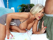 It's very big, and it's in her ass!. It's very big, and it's in her ass! Southern blonde Katia is a very popular woman, and here's she's going big. Very big.Katia, our beautiful, exciting, 56-year-old MILF from Birmingham, Alabama, she of the perfect MILF body and the fuckable MILF face, takes on the incredibly hung Castro, a guy whose dick is as thick as Katia's forearm. And she's going to take his huge dong up her tight ass.  So, guys, here's the schedule for this week: XXX photos today, exciting interview on Wednesday, and on Thanksgiving Day, Katia takes Castro's dick up her ass on video. Welcome back, Katia. You're getting the holiday season off to a very nice start.  It's about the largest I've had, Katia said.  And her first thought when she saw it How am I gonna take it  And how did she take it Very slowly. It was nice!  Watch. Listen. Learn. Jack.See More of Katia at BUSTYOLDSLUTS.COM!