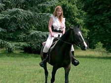 Christy marks - cumshot along for the ride. Ejaculate Along For The Ride ejaculate along for the ride of your life with Christy and her curvy buddies as we give you a behind-the-scenes look at their horse-riding lesson from the feature film busty Riding Academy. This behind-the-scenes footage features Christy (who was the most-experienced rider) along with Jasmine Black, Terry Nova, Kristy Klenot, Melissa Mandlikova and Karina Hart. (It was Karina's first time on a horse and she was nervous and scared.) The girls ride around...topless. There is something so wonderful about a hot chick on horseback with her titties bouncing up and down. Just watch and see for yourself. See More of Christy Marks at BIGTITTERRYNOVA.COM!