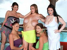 Angela white - girls of big boob paradise. Girls of big Boob Paradise  Terry and her friends give Christy Marks the warm oil treatment in a manner that's reminiscent of an earlier classic also starring Lorna: On Location Key Largo. In that movie, Chloe Vevrier was the recipient of a similar hands-on oiling by her housemates in Florida.Christy was the youngest of the big Boob Paradise group at 18, and 18-year-olds tend to be very horny. She's also the one most likely to lay back and spread her legs just for the sake of spreading her legs.  The best thing about Eleuthera for Christy Everything else. Being in The Bahamas for the first time. Being around so many people that she quickly grew very attached to. Becoming friends, if only for a short time, with Lorna, Gianna, Terry and Angela. See More of Angela White at BIGTITTERRYNOVA.COM!